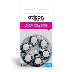 Батарейки для слуховых аппаратов (675)